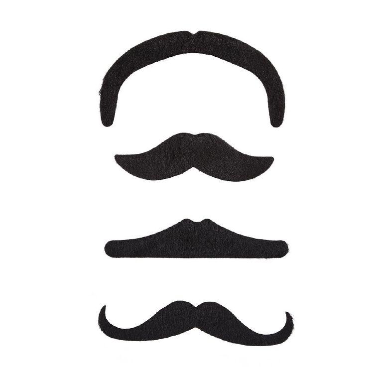 Play Studio Moustache Kit 4 Piece Black, , hi-res