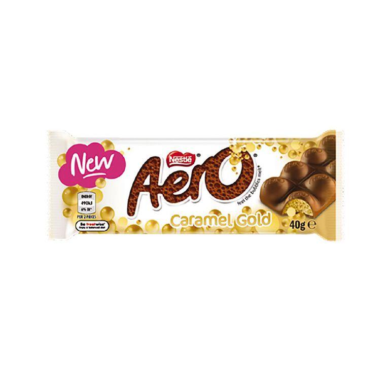 Nestle Aero Caramel Gold Bar 40g, , hi-res