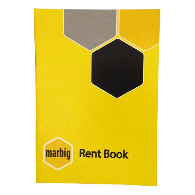 Marbig Rent Book Yellow A5, , hi-res