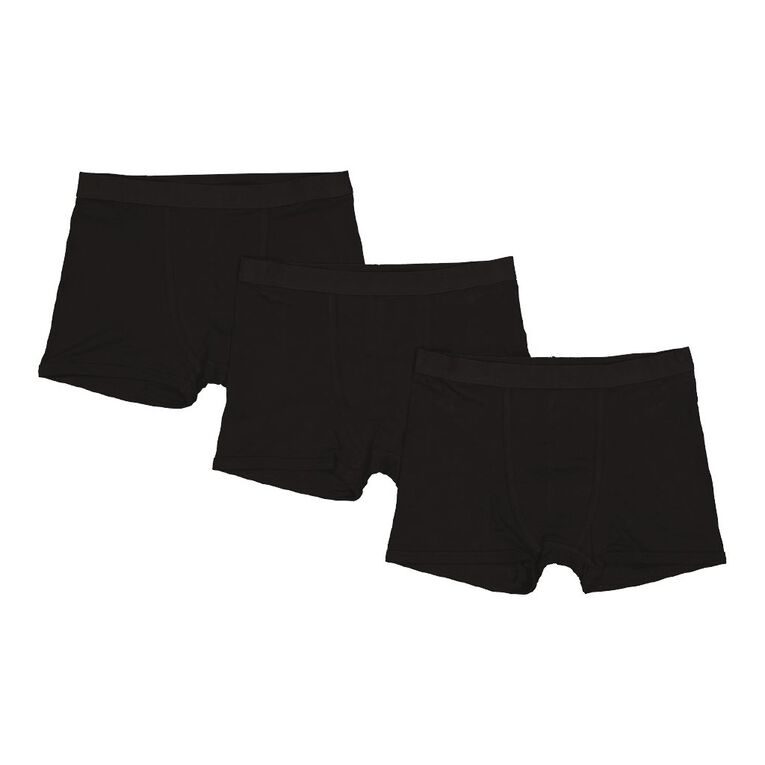 H&H Trunks 3 Pack, Black, hi-res