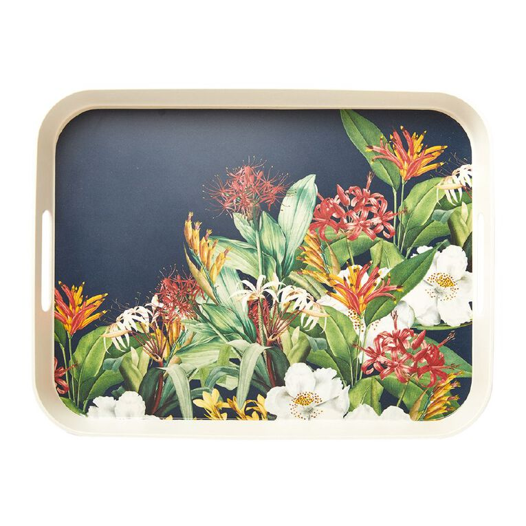 Living & Co Kiwi Floral Bamboo Tray, , hi-res