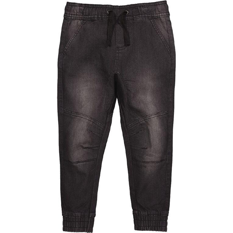 Young Original Knee Panel Jeans, Black, hi-res