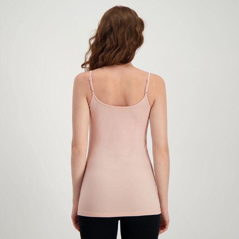 H&H Women's Light Under Singlet, Pink Dark, hi-res