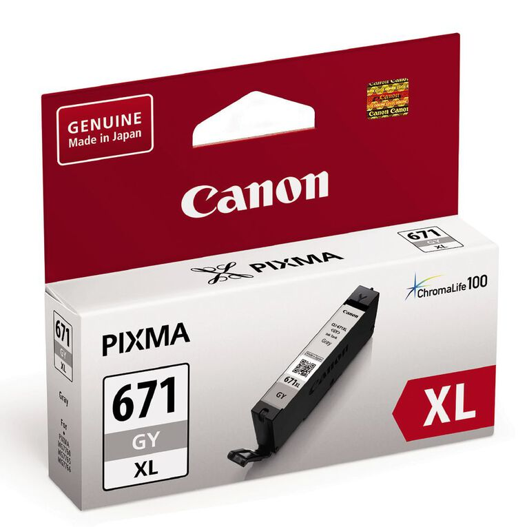 Canon Ink CLI671XL Grey (690 Pages), , hi-res