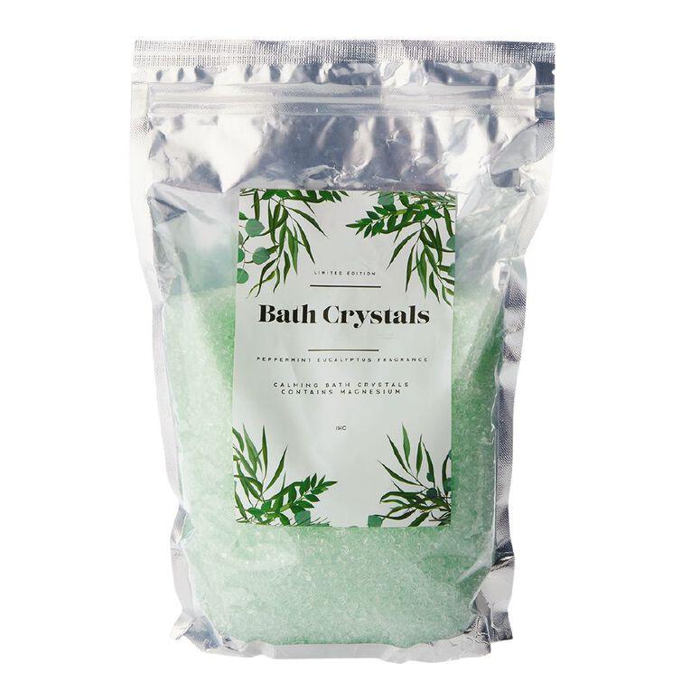 Bath Crystals Peppermint Eucalyptus 1kg, , hi-res