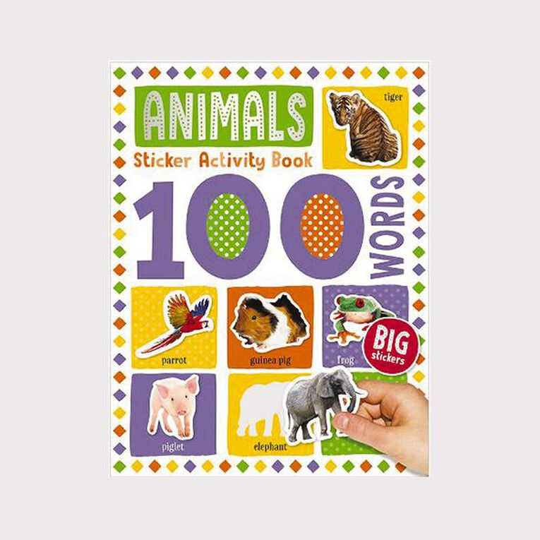 100 Word Animal Sticker Book, , hi-res