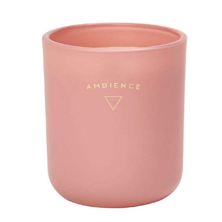 Living & Co Ambience Jar Candle Berry Royale Pink 13oz, Pink, hi-res