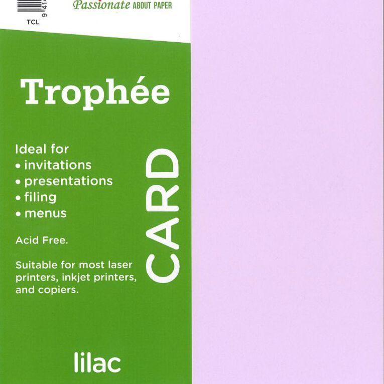 Trophee Card 160gsm 15 Pack Lilac Purple A4, , hi-res
