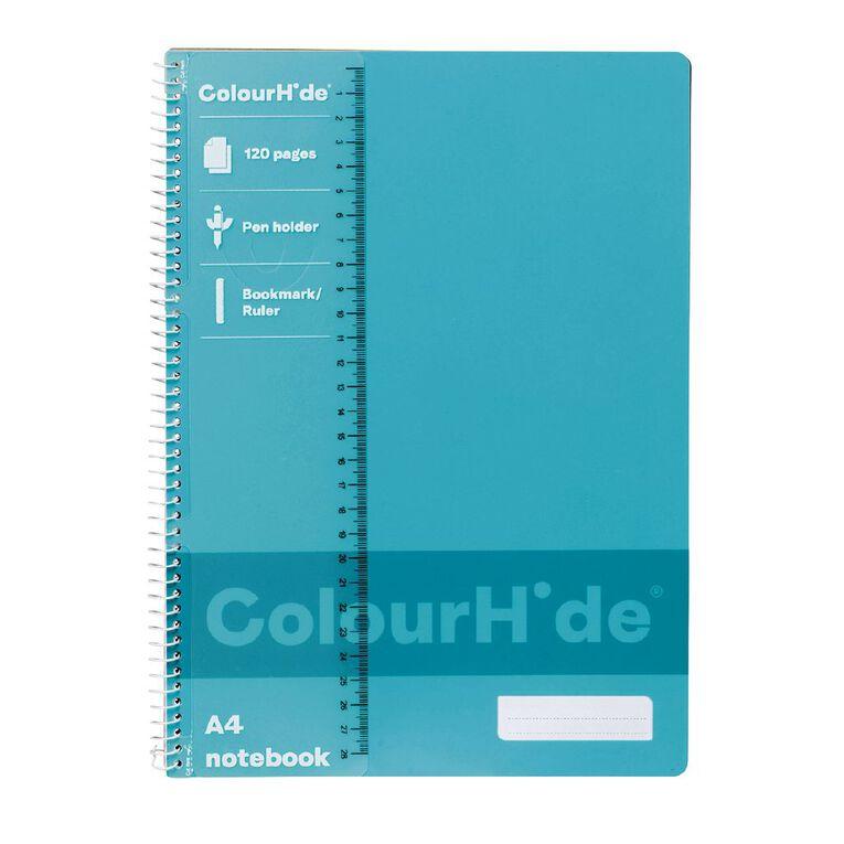 ColourHide Notebook 120 Page Aqua A4, , hi-res