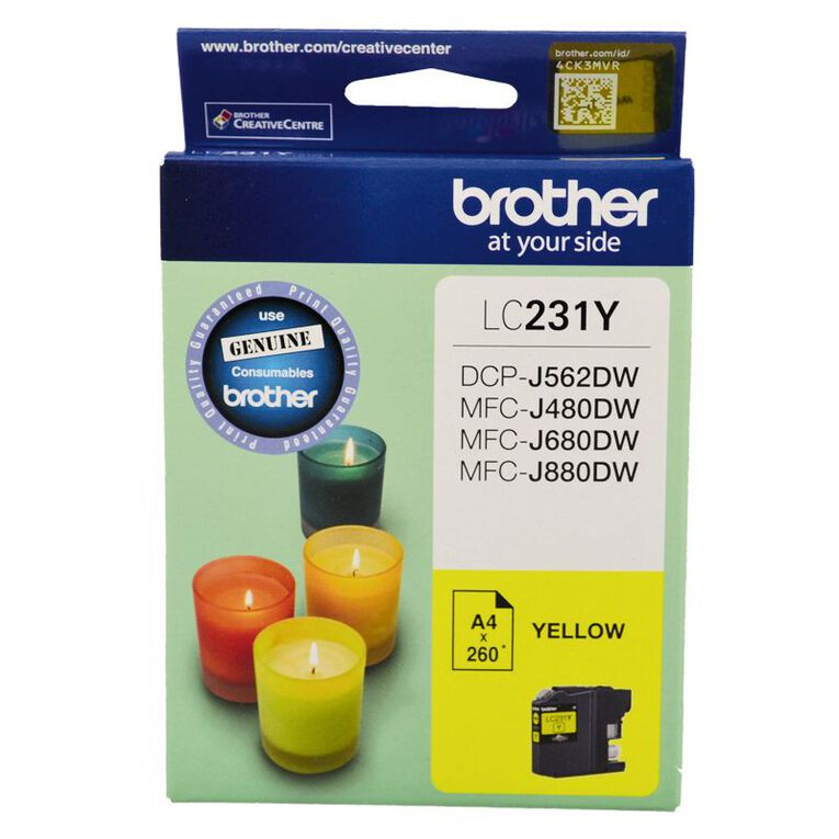 Brother Ink LC231 Yellow (260 Pages), , hi-res