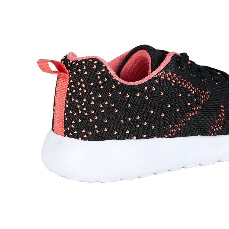 Active Intent Kids' Jacquard Knit Shoes, Black CARNATION, hi-res