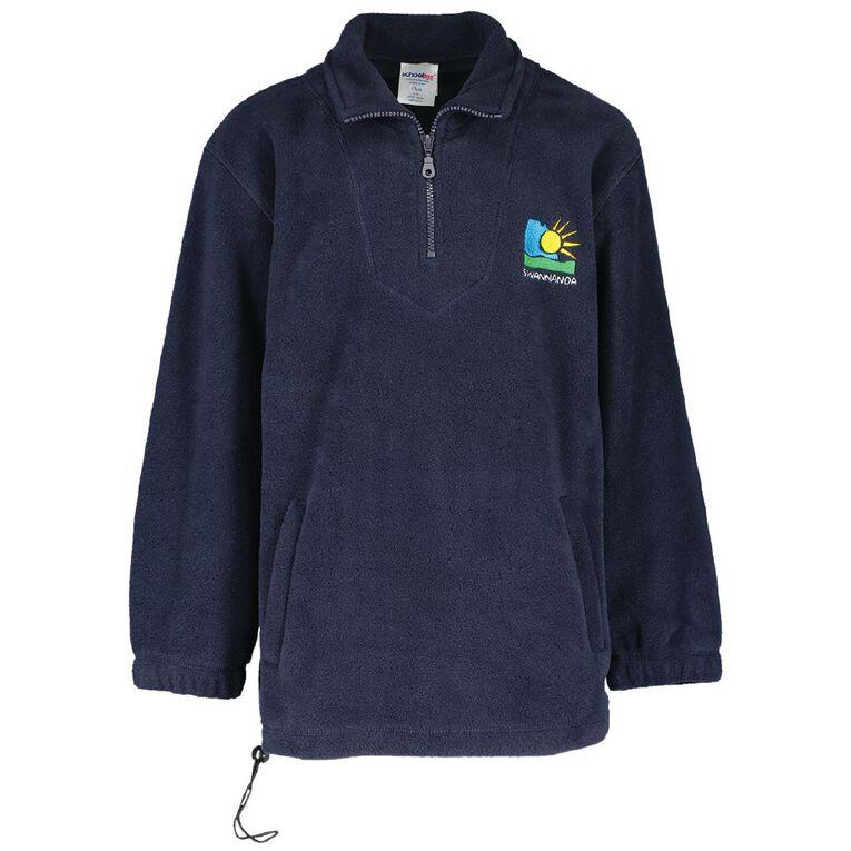 Schooltex Swannanoa Polar Fleece Top with Embroidery, Navy, hi-res
