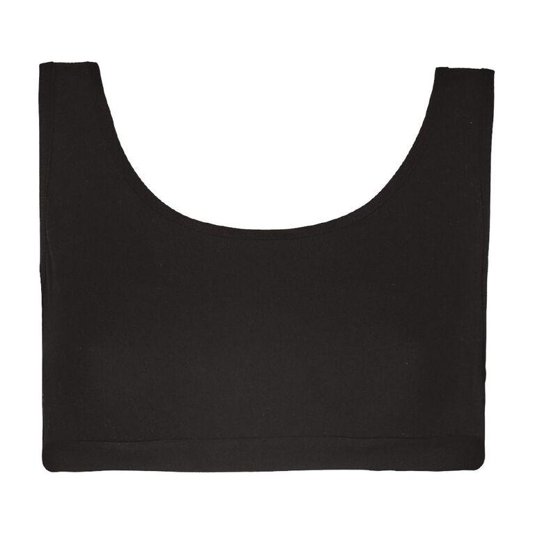 H&H Women's Crop Top, Black, hi-res