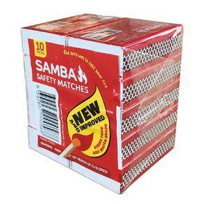 Samba Matches 10 Pack