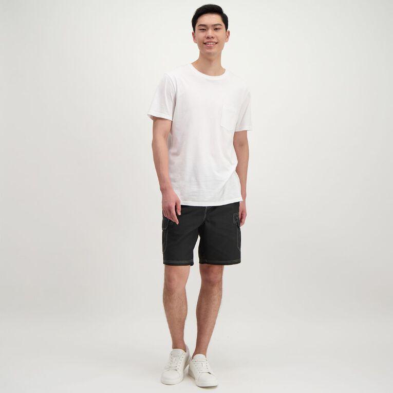H&H Men's Cargo Board Shorts, Black, hi-res