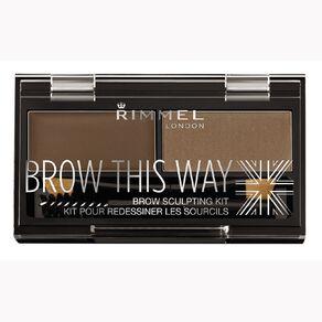 Rimmel Brow this Way Eyebrow Powder Kit Mid Brown