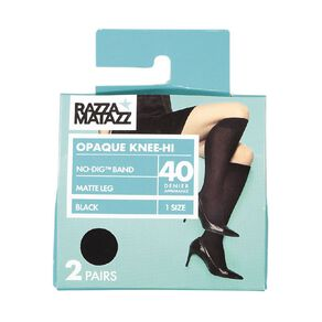 Razzamatazz Women's Opaque Kneehigh 2 Pack