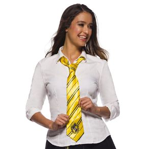 Harry Potter Hufflepuff House Crest Tie Yellow One Size