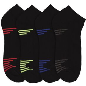 Active Intent Men's Low Cut Cushioned Sports Sock 4 Pack