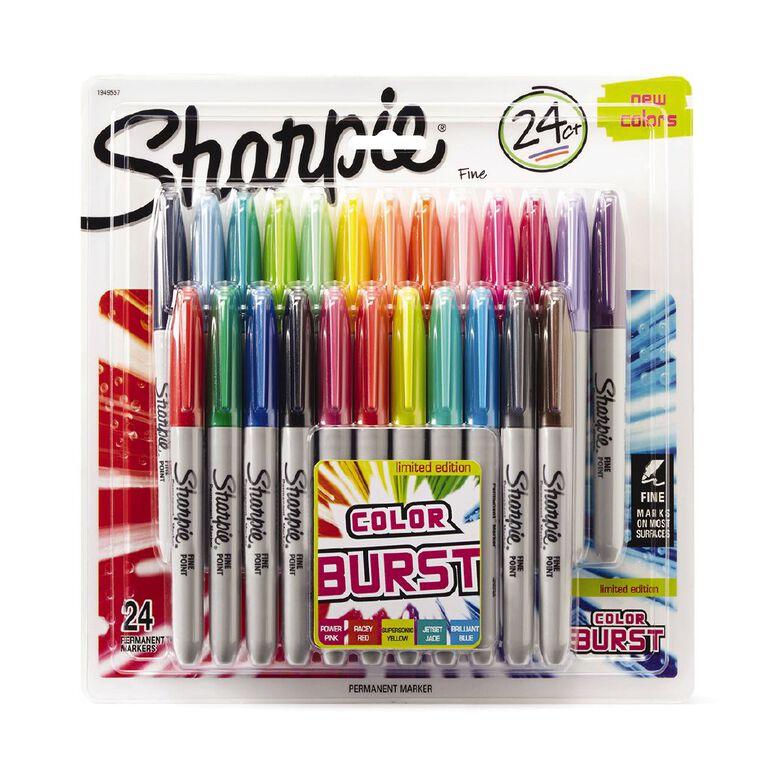 Sharpie Fine Colour Burst 24 Pack Mixed Assortment, , hi-res