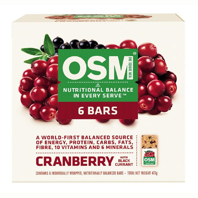 One Square Meal Cranberry & Blackcurrant 6 Pack 495g, , hi-res