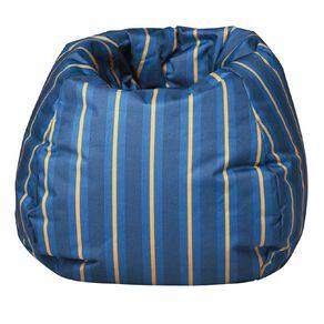 Canvas Prefilled Bean Bag Stripe Denim/Cyprus Blue