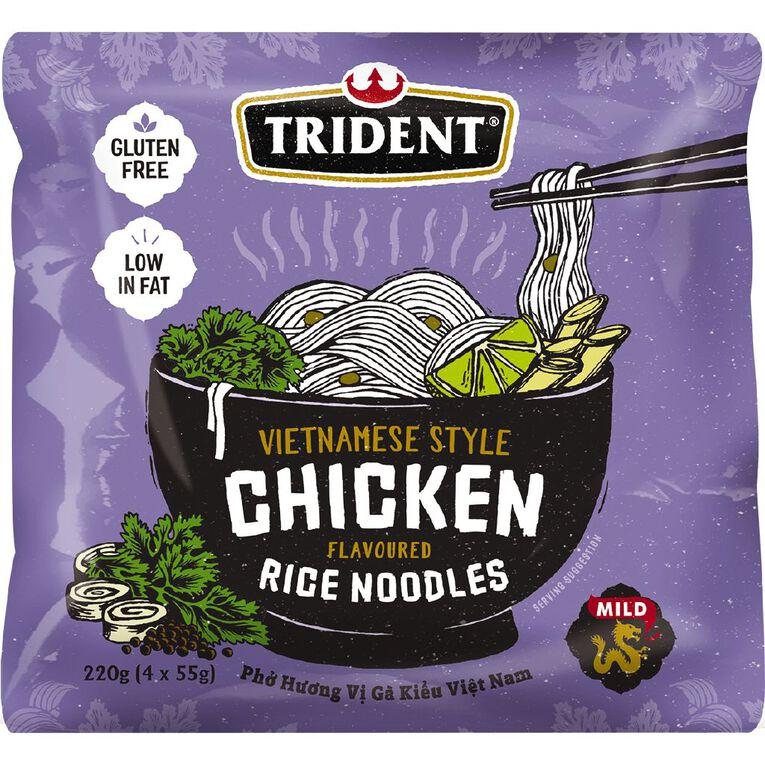 Trident Rice Noodles Chicken 4 Pack 55g, , hi-res image number null