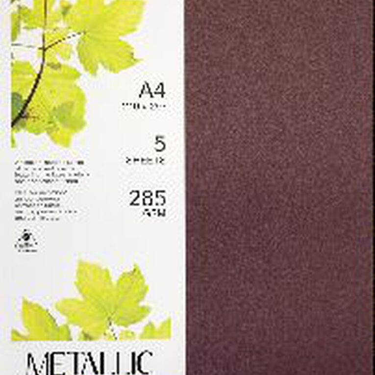Direct Paper Metallic Board 285gsm 5 Pack Ruby A4, , hi-res