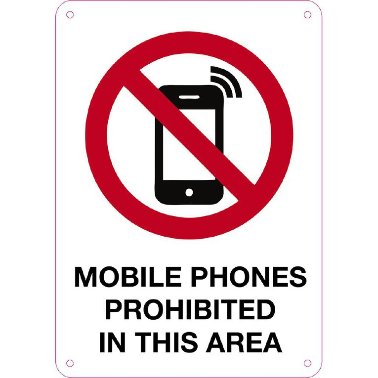WS Mobile Phones Prohibited Sign Small 340mm x 240mm, , hi-res