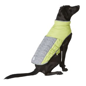 Simply Dog Lime Quilted Puffer Jacket XXL