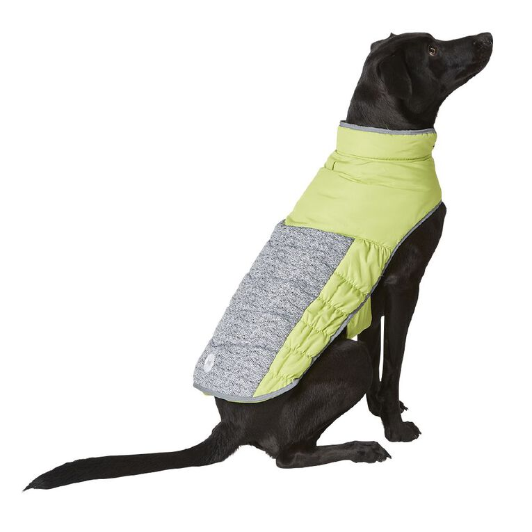 Simply Dog Lime Quilted Puffer Jacket XXL, , hi-res