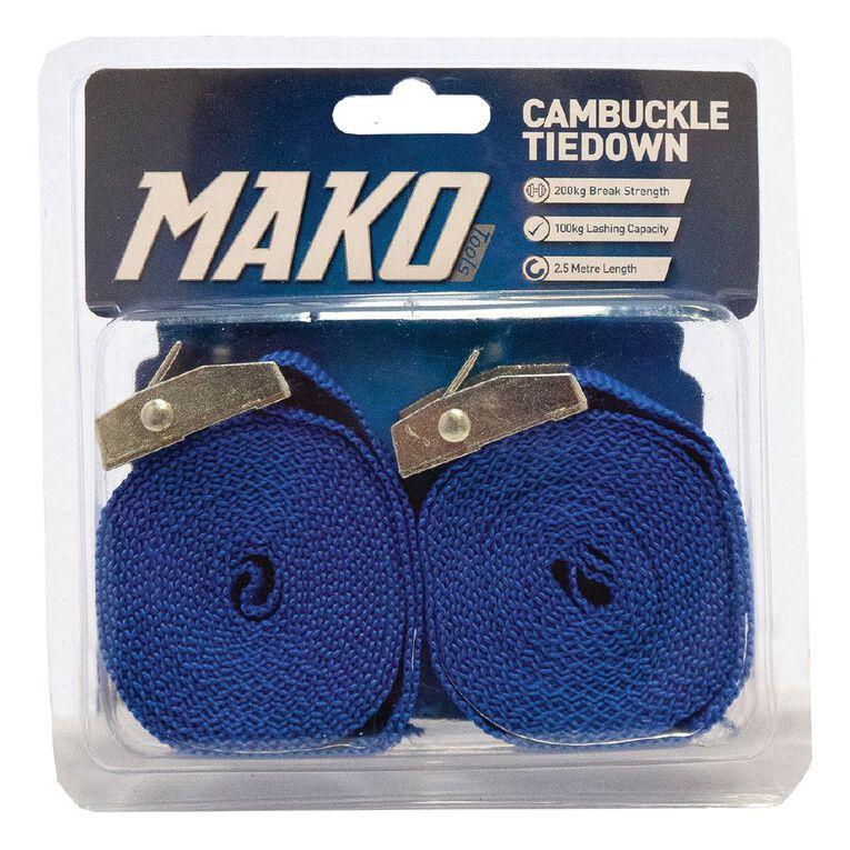 Mako Roof Rack Tiedown 25mm x 2.5m 2 Pack, , hi-res