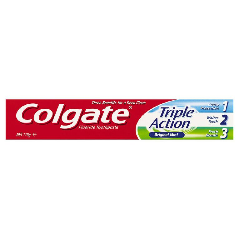 Colgate Triple Action Toothpaste 110g, , hi-res
