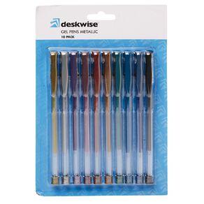 Deskwise Gel Pens Metallic Mixed Assortment 10 Pack