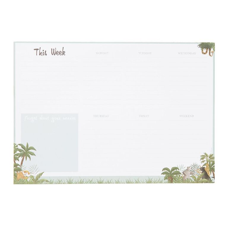Disney Jungle Book Weekly Planner White A4, , hi-res