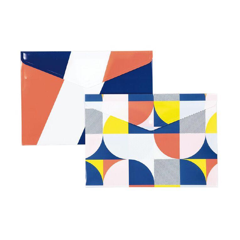 Uniti Geo Document Wallet 2 Pack Multi-Coloured, , hi-res