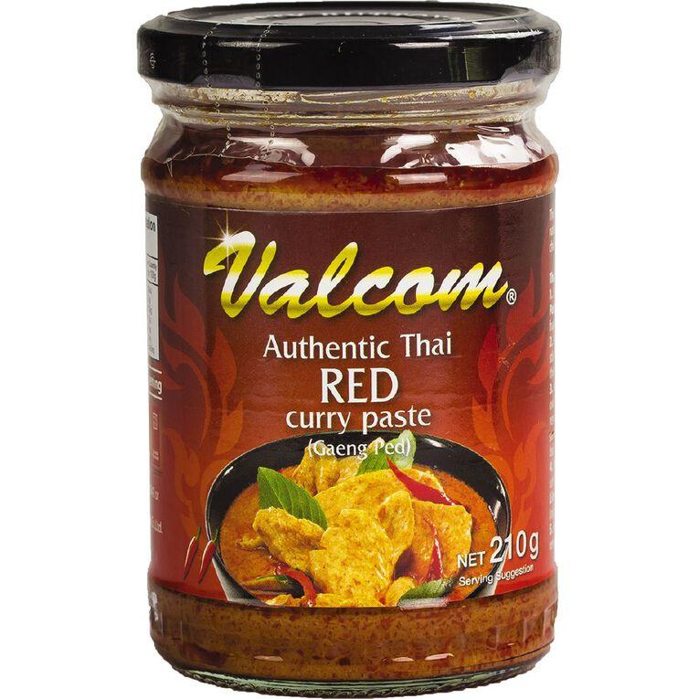 Valcom Curry Paste Red 210g, , hi-res
