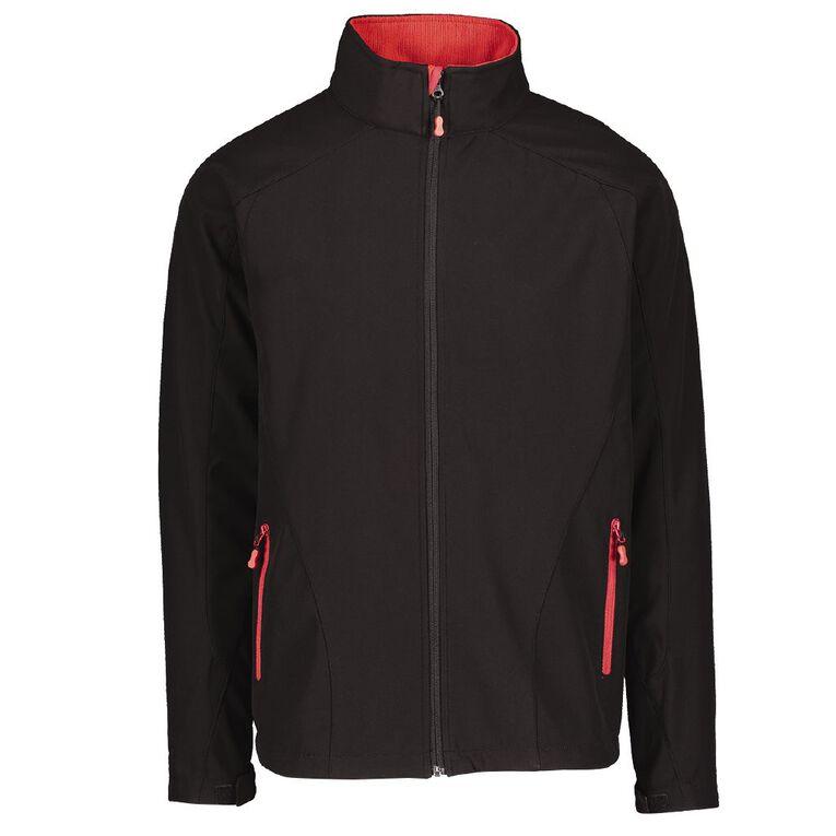 Schooltex Softshell Jacket, Black/Red, hi-res