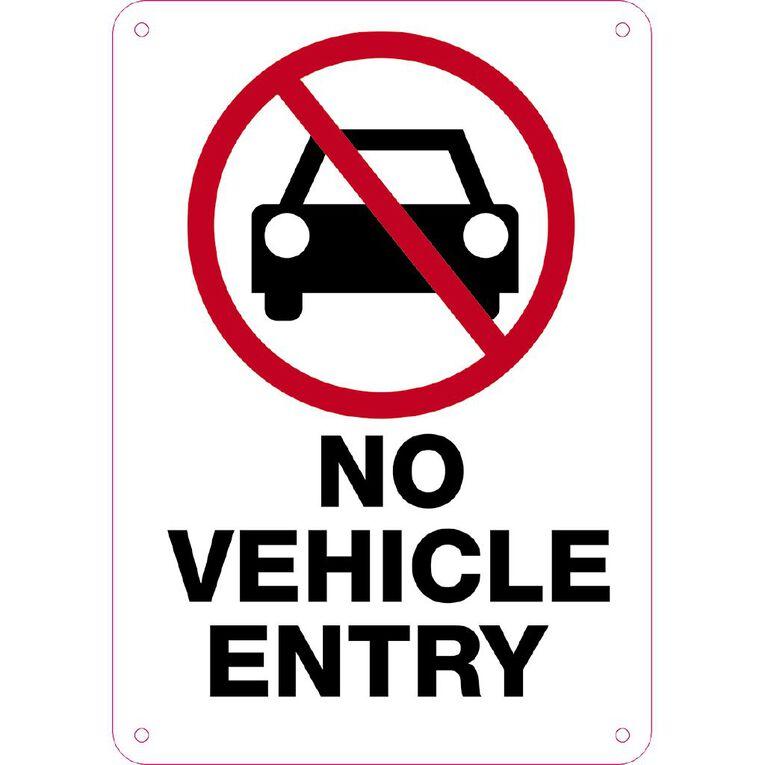 WS No Vehicle Entry Sign Small 340mm x 240mm, , hi-res