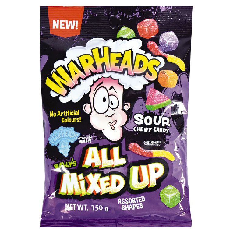 Warheads All Mixed Up Sour Chewy Candy 150g, , hi-res