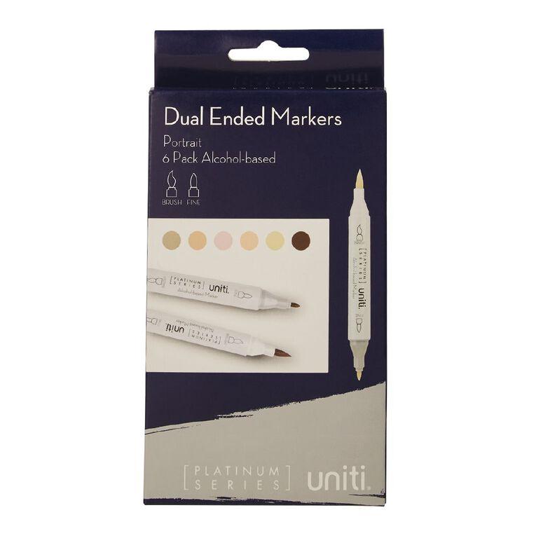 Uniti Dual Ended Markers Portrait 6 Pack, , hi-res