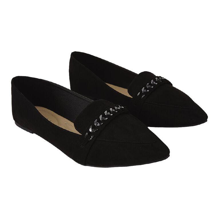 H&H Elena Ballet Shoes, Black, hi-res