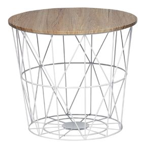 Living & Co Wire Side Table White