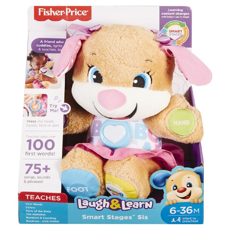 Fisher-Price Laugh & Learn Pink Sis Puppy, , hi-res