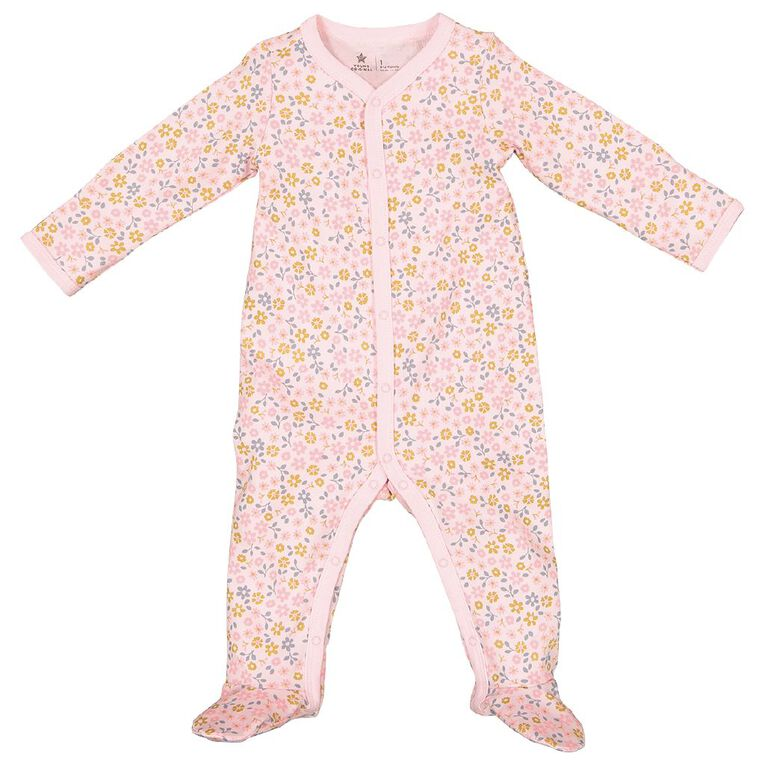 Young Original Baby Organic Cotton All In One, Pink Light, hi-res