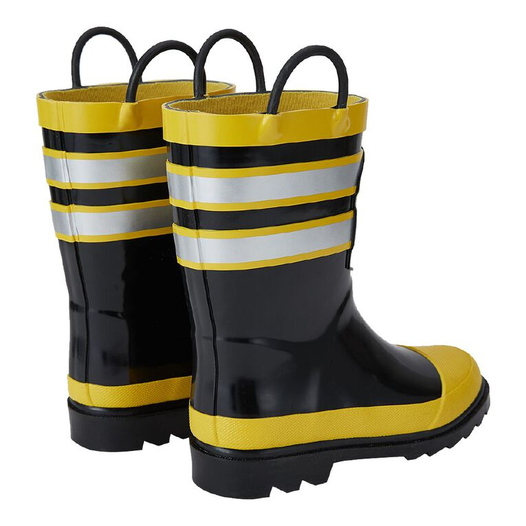 Young Original Kids' Fire Truck Gumboots, Yellow Dark, hi-res image number null