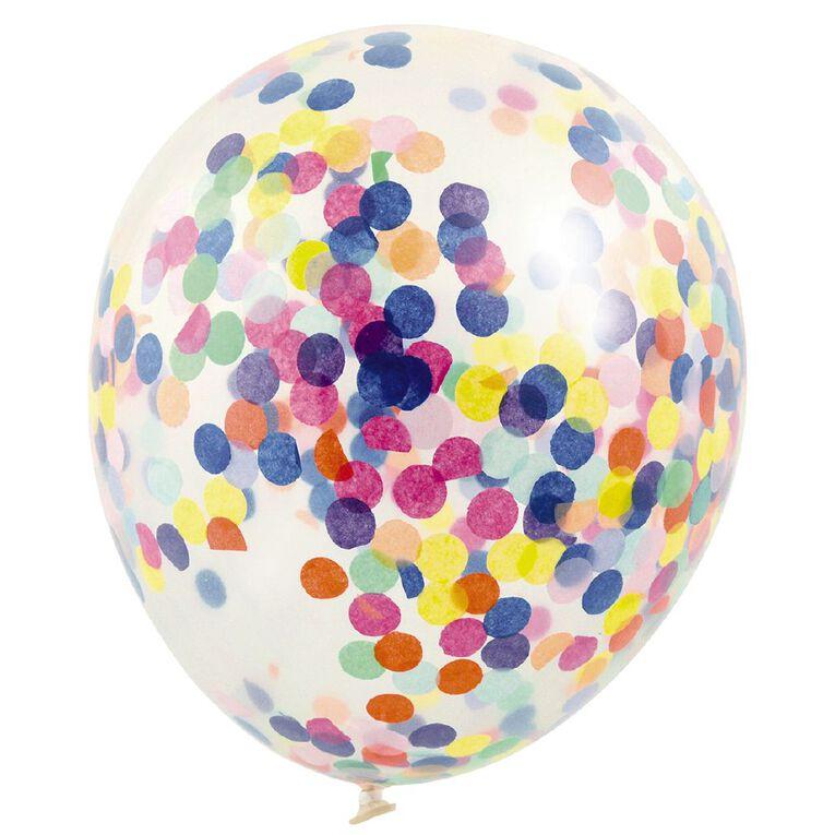 Artwrap Party Balloons Confetti 30cm Multi-Coloured 3 Pack, , hi-res
