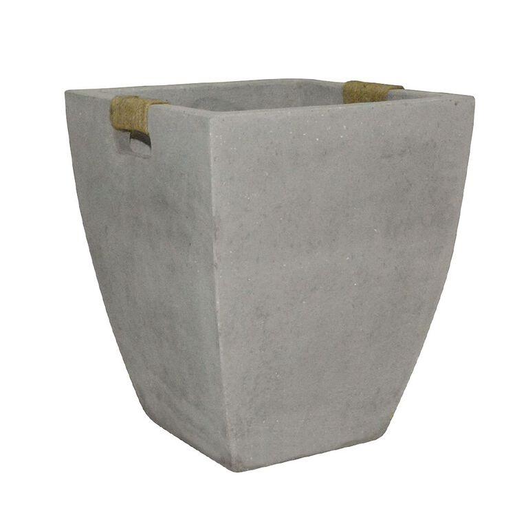 Kiwi Garden Light Cement Rope Pot Grey 28cm, , hi-res