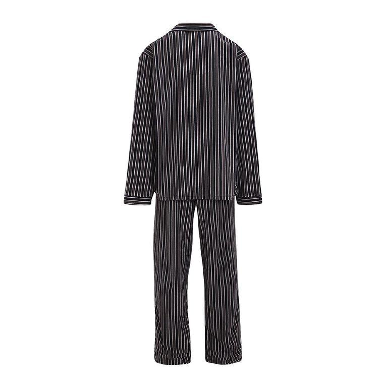 H&H Men's Fleece Pyjamas, Grey Dark, hi-res