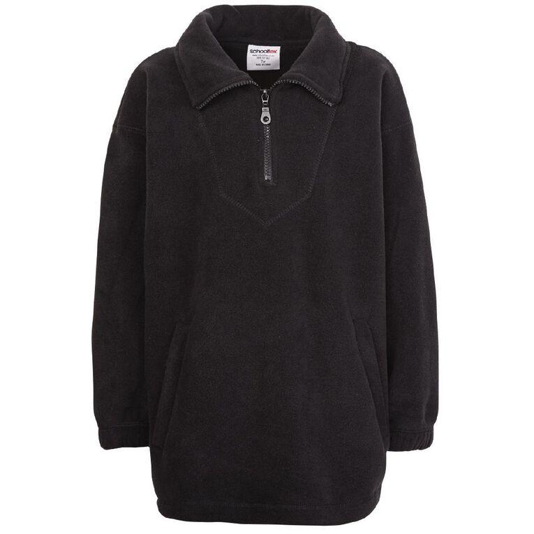 Schooltex Kids' Polar Fleece Top, Black, hi-res